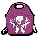 Skeleton Guns White LogoLunch Bag For Women Lunch Bag Lunch Box Food Bag Cool