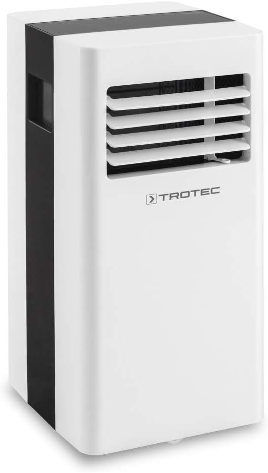 TROTEC Aire Acondicionado Portátil Pac 2100 X, 3 en 1: Refrigeración, Ventilación y Deshumidificación, Pantalla LED, Silencioso, Hasta 65 m³, Purificación de Aire, Flujo de Aire 319 m³/h, Blanco