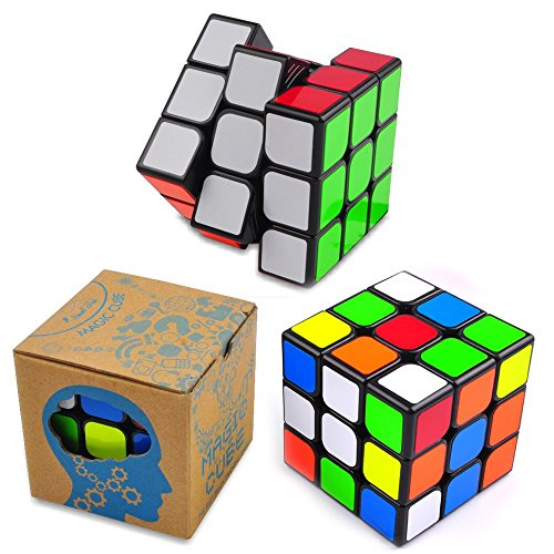Magic Speed Cube: The Best Brain Training Game - 3X3 Easy Turning and Smooth Play, Super Durable with Vivid colors, Ultimate Holiday Gift Idea to Expand Your Mind with Hours of Logical (Holiday Car Costume)