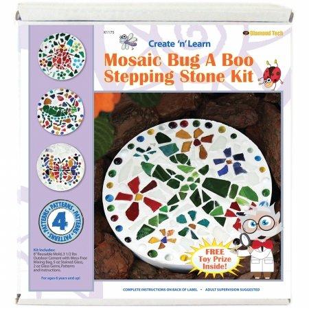 Mosaic Stepping Stones Patterns - Diamond Tech Create N Learn Mosaic Stepping Stone Kit, Bug-A-Boo