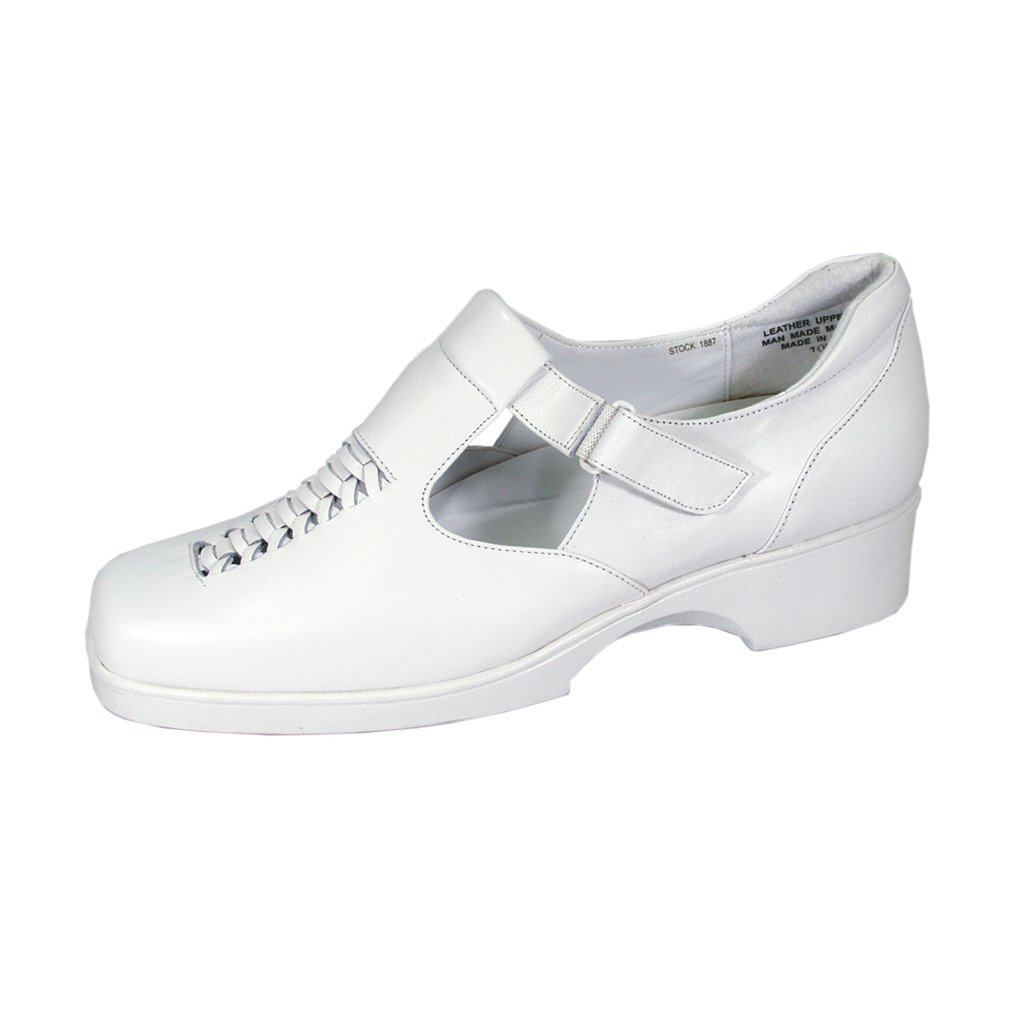 24 Hour Comfort Yvette (1887) Women Extra Wide Width Shoes White 10 by 24 Hour Comfort
