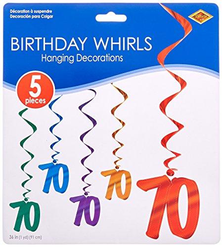 [70 Whirls (asstd colors)    (5/Pkg)] (Party Decoration Items)