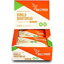 Bulletproof Collagen Protein Bars, Be Strong, Not Hungry, Vanilla Shortbread (12 Count)
