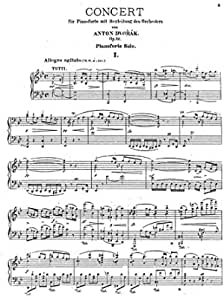 Antonin Dvorak: Piano Concerto op. 33: Antonin Dvorak: Amazon ...