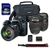 Canon EOS 6D DSLR Camera Bundle with Canon EF 24-105mm f/4L IS USM Lens + Tamron Zoom Telephoto AF 70-300mm Autofocus + 32 GB Memory Card + Camera Case