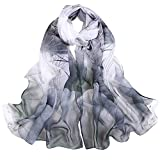 TADAMI Wrap Scarf Fashion Women Lotus Printing Long Soft Wrap Scarf Ladies Shawl Scarves Clothing Shoes & Accessories Scarf (Black)