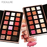 FOCALLURE 18 Colors Eyeshadow Palette Matte Shimmer Eye Shadow Makeup Powder Set for Party for Show for Prom (AB)
