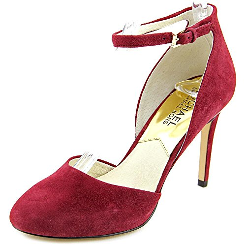 Michael Michael Kors Georgia Ankle Strap Women US 5.5 Burgundy Heels - Ankle Strap Clog