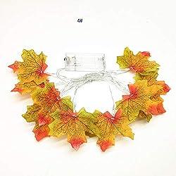 Light,YJYDADA 1.5M 10LED Lighted Fall Autumn Pumpkin Maple Leaves Garland Thanksgiving Decor (D)