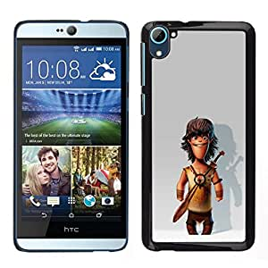 // PHONE CASE GIFT // Duro Estuche protector PC Cáscara Plástico Carcasa Funda Hard Protective Case for HTC Desire D826 / Comic Caveman Snow 3D /