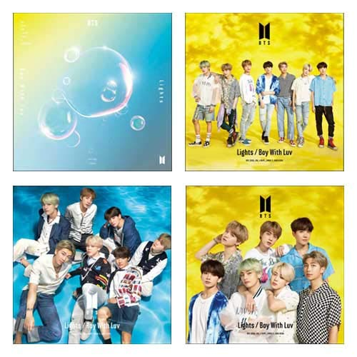 BTS 방탄소년단 Lights / Boy With Luv(한정A+한정B+한정C+통상)【특전:B2포스터(도안C)첨부(부)】 CD+DVD