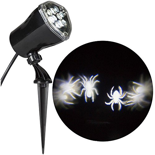 Advanced Lightshow Whirl-A-Motion Ultra Bright LED Witches Spiders Skeletons Projection Spot Light Outdoor Halloween Decoration (Outdoor Halloween Decorations Sale)