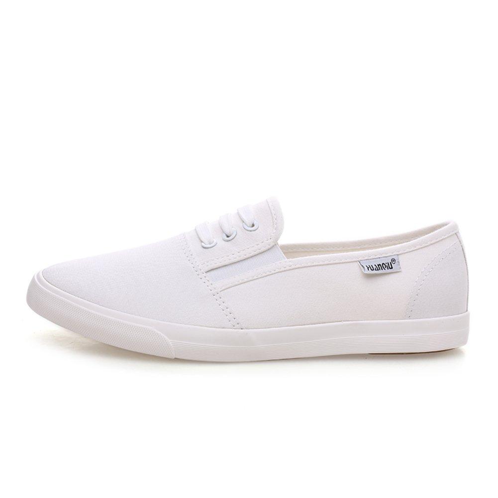 blanc B002WQ01O0 shoes pour les Étudiant de couple 12763/Chaussures les en toile/Chaussures de loisirs coréen/Chaussures respirants et plates/Flâneur H fb3e93b - reprogrammed.space