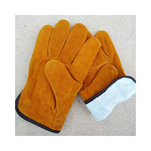 Dig dog bone Work Gloves for Men Short Welder Durable Insulated Protective Gloves, 10