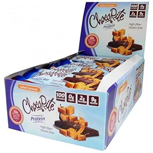ChocoRite - High Protein Diet Bars | Salted Caramel Bars | Low Calorie, Low Fat, Sugar Free ( 16/Box )