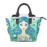 Best Pu Leather Shoulder Bags Satchel Clutch Womens Handbag Tote Purse Messengers - Women Mermaid Pu Leather Hobo Clutch Tote Bag Review