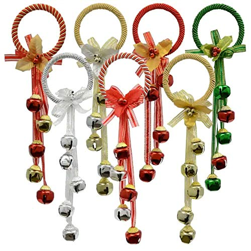 Christmas Decorations Celebrate a Holiday Assorted Jingle Bells Ornament Decor Holiday Colored Merry Christmas Decore Door Hanging Set of 3 Pack
