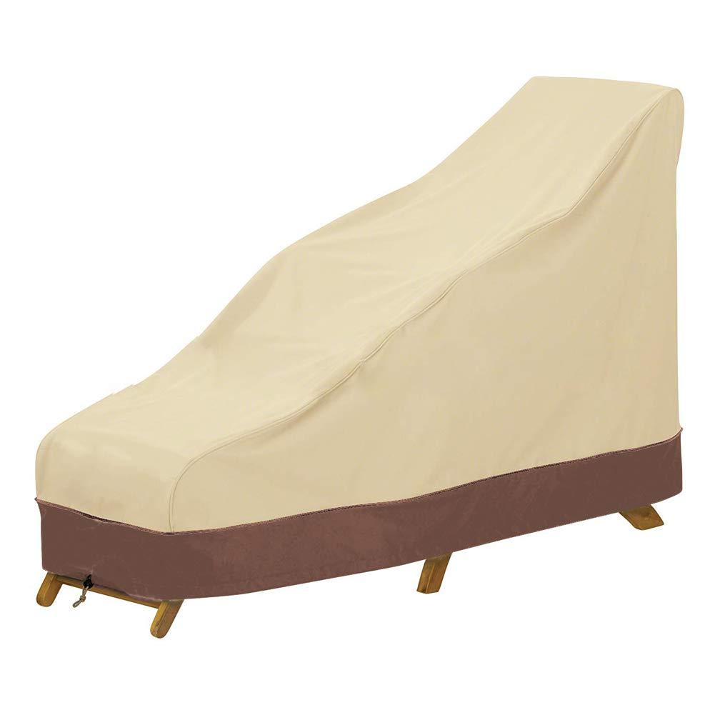 Cubierta de Silla de sal/ón al Aire Libre Impermeable Resistente protecci/ón contra la Intemperie LJXiioo Cubierta de Chaise Longue para Patio
