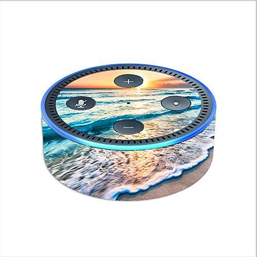 Skin Decal Vinyl Wrap for Amazon Echo Dot 2 (2nd generation) / sunset on beach - Beach Dot