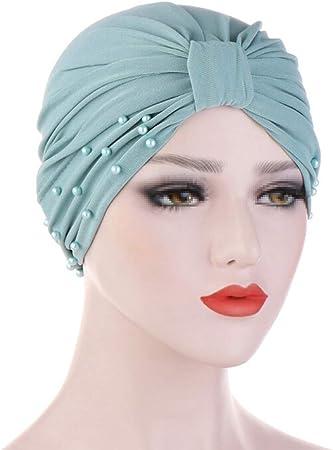 TININNA Sombrero turbantes para Mujer, turbantes pañuelos Cabeza Mujer para Cancer oncologicos perdida de Cabello Turbante Plisado Sombrero Abrigo del Pelo: Amazon.es: Hogar