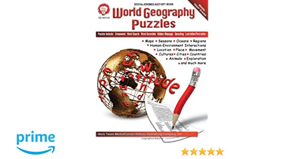 Amazon.com: World Geography Puzzles, Grades 6 - 12 (0044222208103 ...