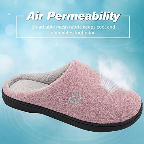 grigio Unisex Memory Ciabatte Antiscivolo Inverno Pantofole In Morbido Rosa Uomo Foam Peluche Scarpe Donna Ow5x8q1v
