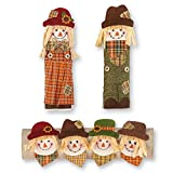 Fall / Autumn Scarecrow in Hats 3 - Piece Appliance Cover Set