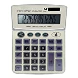 ZHAS Professional Standard Large Desktop Calculator,Office/Business/Electronic calculators with 14-digit Large Display