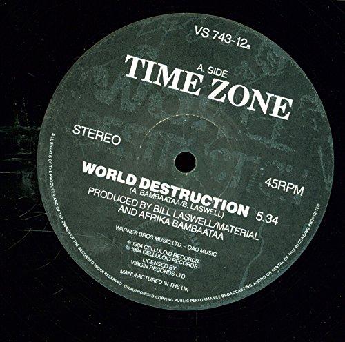 Time Zone - World Destruction - Tommy Boy - VS 743-12a - UK - VG++/VG+ 2LP