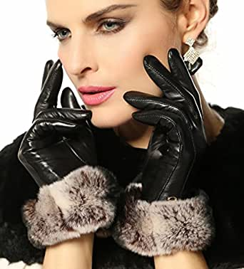 ELMA Lady's Nappa Leather Super Warm Gloves with Luxurious