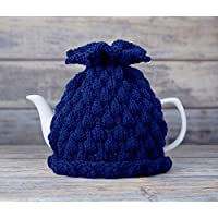 Navy Teapot Cozy Tea Pot Cosy Cover Knitted Warmer Cosie