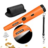 Longruner Metal Detector GP-POINTER Pin Pointer Probe Waterproof HandHeld Pinpointer with Holster Treasure Hunting Unearthing Tool Accessories Buzzer Vibration Automatic Tuning