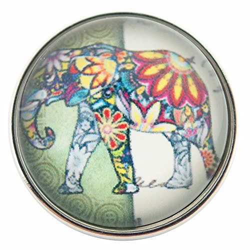 Chunk Snap Charm Colorful Elephant 20mm 3/4
