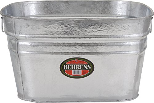 Behrens 62 Hot Dipped Galvanized Steel Tub, 15 Gal, ()