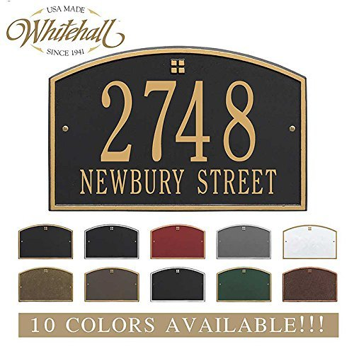 Metal Address Plaque Personalized Cast The Cape Charles Plaque. Display Your Address and Street Name. Custom House Number Sign. (Cape Line Architectural)
