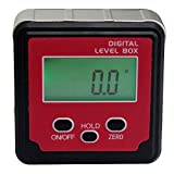 IUEGB Level Box Digital Protractor Gauge Angle Finder Level with Automatic LCD Backlight and Magnetic Base