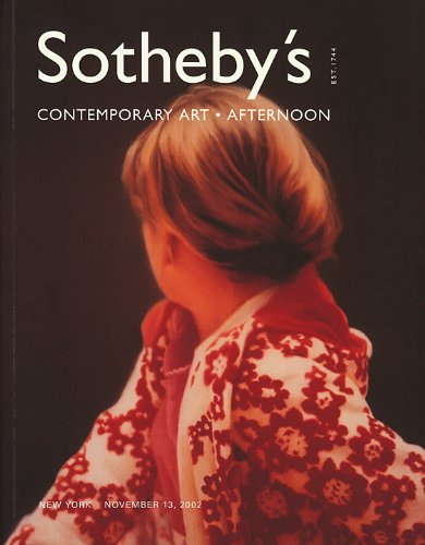 Sotheby's : Contemporary Art Afternoon : November 13, 2002 : Sale N07843