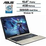 Asus Flagship High Performance VivoBook 15.6 Laptop (1366 x 768), Intel Quad Core Pentium N4200 Processor up to 2.5 GHz, 4GB DDR3L SDRAM RAM, 500GB HDD 5400RPM, Intel HD Graphics 500, Windows 10