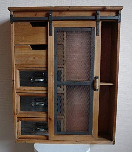 Wandschrank Schiebetür Pared Armario Cajones Puerta Corredera Vintage Madera Alambre: Amazon.es: Juguetes y juegos