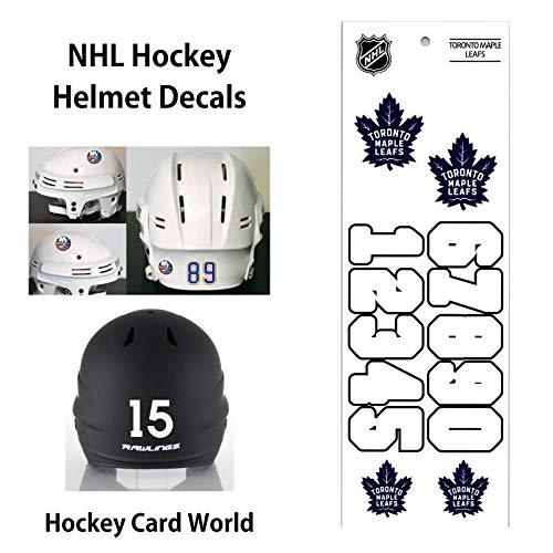 (Toronto Maple Leafs (WHITE) NHL Hockey Helmet Decals Sticker)