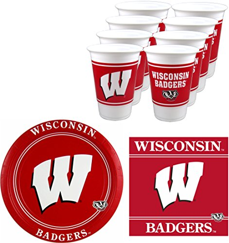 Wisconsin Badgers Party Pack - 48 pieces