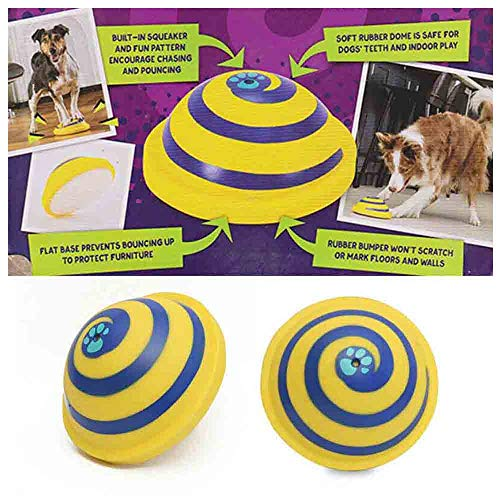 2019 Sounding Disc Woof Glider - Dog Funny Rubber Toys Soft and Safe Indoor Play Toy Aggressive Chewers Dog Toys for Small Medium Large Dog Puppy Pet Entertainment (Multicolor)