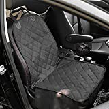 Autoark Pet Front Seat Cover,Dog Car Seat Cover WaterProof & Nonslip Rubber Backing with Anchors Universal Design for All Cars,Trucks & SUVs,Black,AK-027 (Misc.)