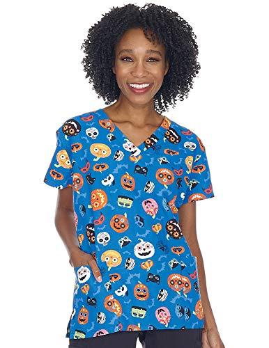 Women's Halloween Nurses Medical Scrub Top