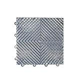 IncStores Vented Nitro Garage Tiles 12''x12'' Interlocking Garage Flooring (Graphite - 52-12''x12'' Tiles)