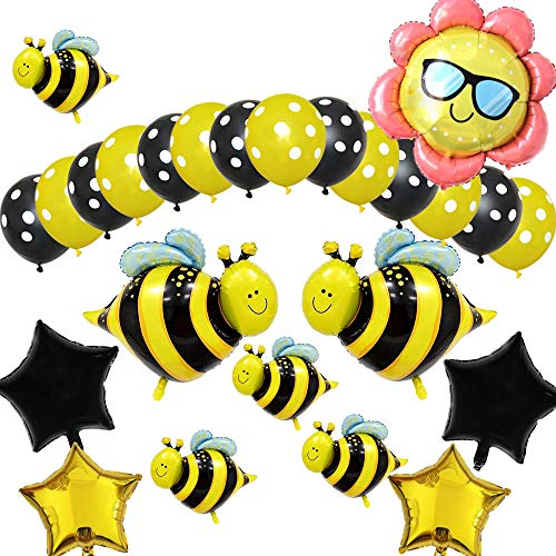 (Bumblebee Party Decoration, Bumble Bee Balloons for Honey Bee Themed Birthday Party, Bumble Bee Baby Shower Decoration, Baby Shower Supplies (31)