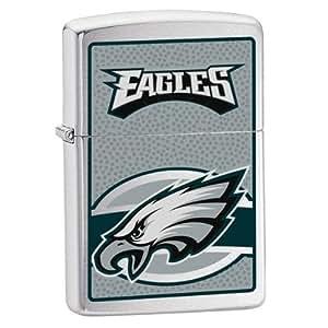 Zippo NFL Eagles Lighter (Silver, 5 1/2 x 3 1/2 cm)