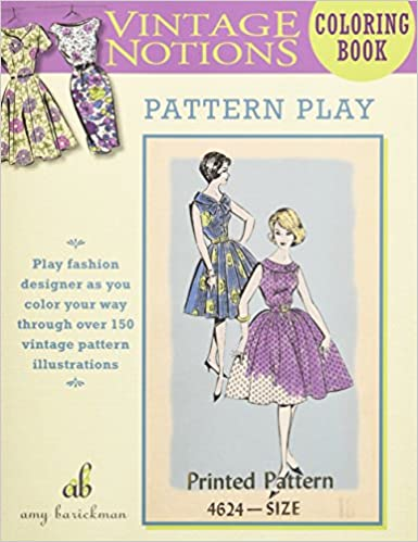Pattern Play Vintage Notions Coloring Book
