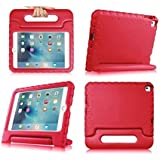 iPad Air 2 Case,iPad Air 2 for kids Case,SNOW-Light Weight Shock Proof Convertible Handle Stand Kids Friendly Protection for Apple iPad air 2(6th Generation)(iPad Air 2, red)