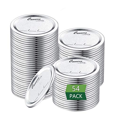 Regular Mouth Canning Lids for Ball, Kerr Jars - Split-Type Metal Mason Jar Lids for Canning - Food Grade Material, 100% Fit & Airtight for Regular Mouth Jars